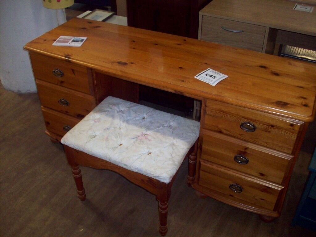 Dressing Table Desk With Sitting Stool Perth