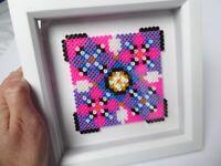 Handmade bead design. In box frame. I am a local designer maker. New item.