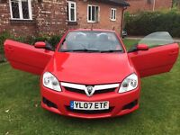 Superb Value 2007 Tigra 1.4 Hardtop Convertible Finished In Stunning Flame Red August 2017 MOT!!