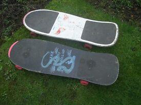 2 old school skate boards
