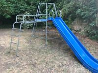 Climbing frame and slide for sale