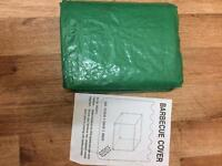 BBQ cover green polyethylene Still in cover.Bargain.A fiver!