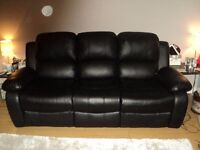 *** SOFAS FOR SALE - THREE SEATER & TWO SEATER FAUX LEATHER - QUICK SALE - £150.00 (ONO) ***
