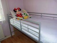 Metal Mid Sleeper Single Bed Frame