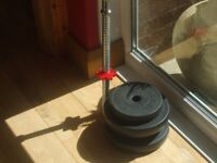Bar and weights for sale