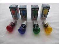 Disco Lamps /Light Screen Lamps 60 x Mixed Coloured Lacquered Pygmy Lamps 15 Watts BC