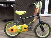 Halfords Childrens bike - Apollo Claws black and green size 14 inch