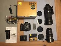 Nikon DSLR D610 body + battery grip + wifi +extra battery boxed fx full CAMERA IMMACULATE BARGAIN!!!