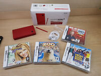 Nintendo Dsi console (red) console and charger - 4 games - Super condition Full working