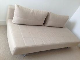 A Lovely, Beige MUJI 3 Seater Sofa Bed. Double Bed. Guest Bed. MUJI Sofabed. Single Bed. Cost £550