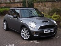 FINANCE AVAILABLE!!! 2007 MINI HATCH 1.6 COOPER S 3dr, HALF LEATHER, PANROOF 1 YEAR MOT, AA WARRANTY