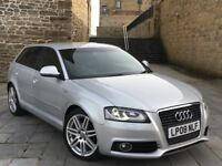 """✅ AUDI A3 S LINE TDI FACE LIFT + LOADED + XENONS + REAR LED's + LEATHERS + 18"""" ALLOYS (GOLF GTD)"""