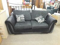Black/Grey Fabric Sofa Bed
