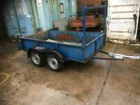 twin axel Trailer 8x5 planet strong steel body with allow floor