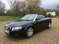Audi A4 1.8T Cabriolet automatic YES 33000 miles with fsh excellent black bodywork