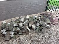 Small quantity of brick rubble and broken paving slabs.
