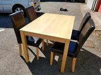 Oak Effect Dining Table and 4 Chairs