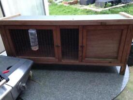 Single rabbit pet Guinea pig small animal hutch cage house home