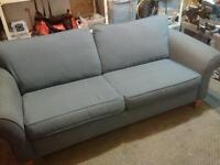 Blue 2 Cushion Couch
