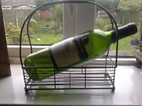 METAL 'WINE BOTTLE' HOLDER NICE!.