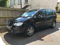 For sale: VW Touran black 1.9 TDI 7 seater, 2008, low mileage family car, diesel, manual, Brighton