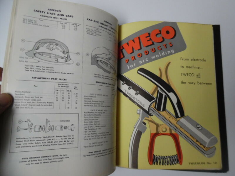 1955 Welding Equipment Tool Dealer Catalog Binder OKI Smith TWECO More Vintage