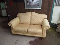 Gold Fabric 2 Seat Sofa Delivery Available £15