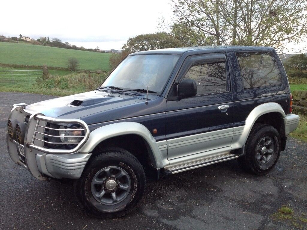 mitsubishi pajero 2 8td swb 3 doors 4x4 automatic blue low mileage long mot in. Black Bedroom Furniture Sets. Home Design Ideas