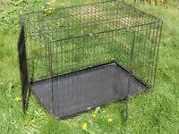DOG CAGE, 90 CM BY 60 CM BY 60 CM.
