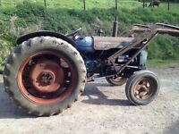 Fordson power major tractor 1950s with live drive
