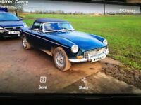 Mgb roadster , British racing green , spokes, spares/repair