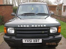 Land Rover Discovery GS, series 2, 2001, 2.5TDI, 4x4, green, full years MOT