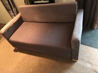 Sofa bed 2 seater ikea brown foam settee