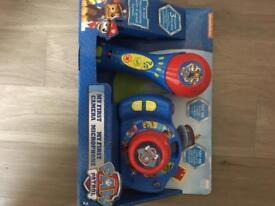 Paw patrol camera and microphone