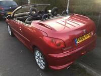 2004 Peugeot 206cc only 58000 miles very tidy car BARGAIN