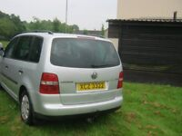 have this real good 7 seater vw taran for sale M O T till oct 18 and will pass again