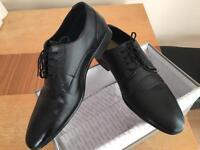 Black smart shoes office school casual size 7