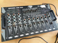 10 Channel Professional Sound Mixer Desk - Mobile DJ/Karaoke/Theatre Group Audio Equipment