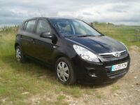 2009 Hyundai i20 Classic, Black, 5 door/hatchback, with ISOFIXings. 50,000 miles. Air con. £3050