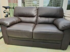 2 Seater Faux Leather Sofa