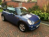 Mini Cooper cabriolet convertible 2004 private reg low mileage