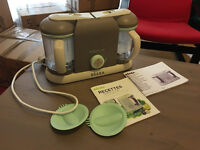 Babycook Beaba used only twice - comes with accesories and instructions and cook book