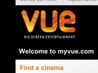 Vue cinema tickets for outside London only£6.40 each.