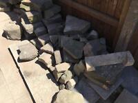 Garden stone approx 60 pieces