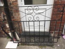 Double iron Garden gates
