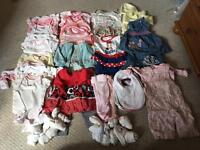 Baby girls clothes bundle 0-3mths