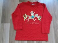 BOYS GEORGE LONG SLEEVED RED TOP 4-5 YEARS