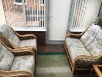 Conservatory suite - double sofa and two arm chairs