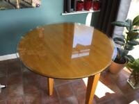 Small fold down wooden table