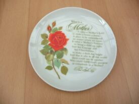 Plate collectible- Helen Steiner Rice - What is a Mother - REDUCED